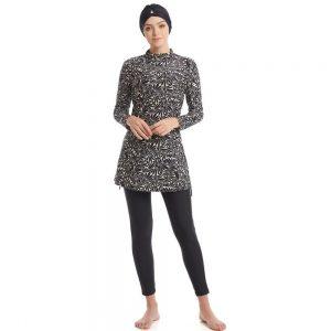 2020 Modest Muslim Swimsuit Burkinis Full Cover Islamic Arab Long Sleeve Swimming Set Bearwear Hijab Bathing Suit Swimwear