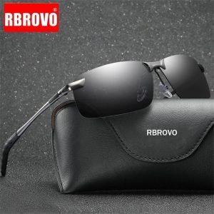 RBROVO 2021 Color Changing Sunglasses Men Brand Designer Classic Metal Polarized Glasses Women Driving Oculos De Sol UV400