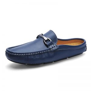 Lofer Shoes Man Half Shoes For Men Formal Shoes Mens Loafers Leather Male Business Fashion Casual Shoes Light Driving Shoes Flat