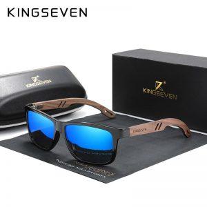 KINGSEVEN Brand Design TR90+Walnut Wood Handmade Sunglasses Men Polarized Eyewear Accessories Sun Glasses Reinforced Hinge