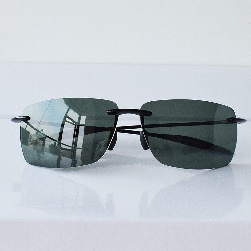10g Polarized Sunglasses Men TR90 Rimless Sun Glasses for Man Ultra-light Driving Shades Anti Glare UV400