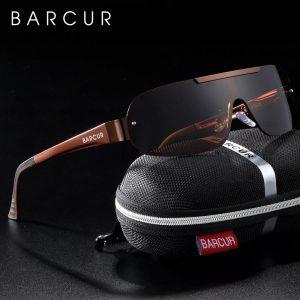 BARCUR Aluminum Magnesium Men's Sunglasses Pilot Driving Narrow Polarized Lens Man Sun Glass Women Gafas De Sol Shades