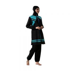 2020 New Burkini Muslim Women 3PCS Hijab Swimsuit Swimwear Islamic Full Cover Modest Beachwear Hooded Bathing Suit Sport Surf
