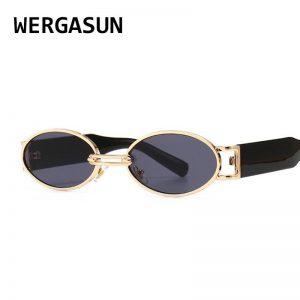 WERGASUN Vintage Sunglasses Men 2020 New Luxury Women Sunglasses Oval Punk Glasses Fashion Eyewear UV400 Gafas de sol
