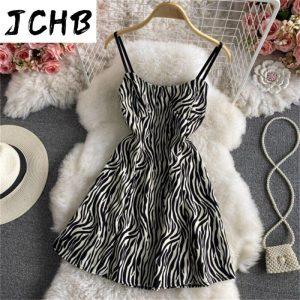 JCHB 2021 High Quality Summer Dress  Sexy Mini Dresses for Women Party Korean Fashion Backless Dress Female Vestido De Mujer Pph