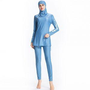 High Elasticity Burkini Musulman Swimsuit Fashion Hijab Swimming Suit Fashion Summer Beachwear S-6XL Print Muslim Swimwear Women