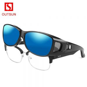 OUTSUN Brand OVER-FIT Polarized Sunglasses Men Women Outdoor Sports Glasses UV400 Fishing Sunglasses Prescription Glasses OS098