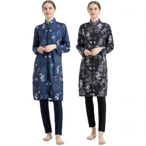 Digital printEd Muslim swimwear Southeast Asian Hui conservative waist three-piece sportswear swimwear women