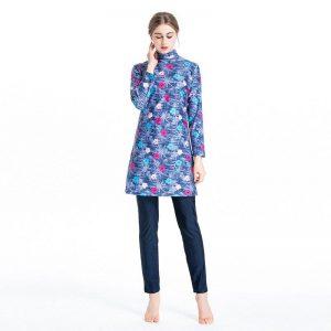 Design Long-Sleeve Solid Color Flexible Full Burkini Muslim Swimwear set S-4XL Plus Size Islamic Swimsuit Fashion Turkey Women