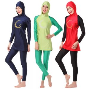 2 PCS Muslim Swimwear Burkini Modest Bathing Suit Islamic Swimsuit for Women