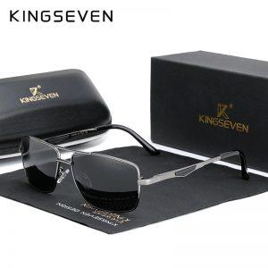 KINGSEVEN 2021 Brand Classic Square Polarized Sunglasses Men's Driving Male Sun Glasses Eyewear UV Blocking Oculos N7906