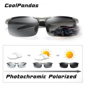 2021 Aluminum Rimless Photochromic Sunglasses Men Polarized Day Night Driving Glasses Chameleon Anti-Glare gafas de sol hombre