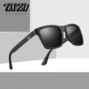20/20 Brand Design Retro Polarized Men Sunglasses Driving Black Square Shades Sun Glasses For Men Eyeglasses Oculos PL364