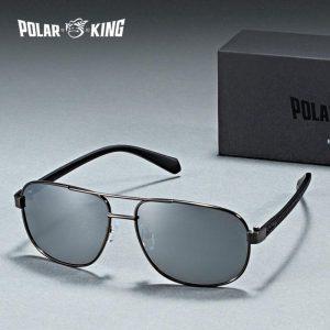 POLARKING Brand Retro Designer Polarized Men Sunglasses Men's Metal Driving Sun Glasses Fishing Travel Eyewear Oculos de sol