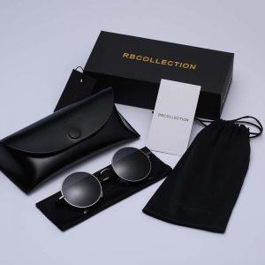 Black Metal Polarized Sunglasses Gothic Steampunk Sunglasses Mens Womens Fashion Retro Small Vintage Round Eyewear Shades