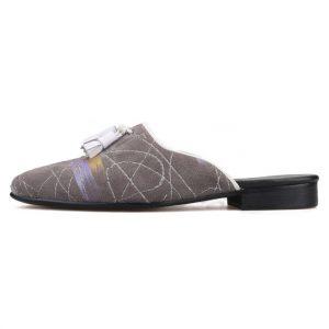 Piergitar 2019 Handmade men's mules gray colors men suede slippers Fashion party and show men tassel shoes plus size