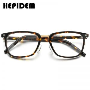 HEPIDEM Acetate Glasses Frame Men Square Prescription Eyeglasses 2020 New Women Nerd Myopia Optical Clear Spectacle Eyewear 5175