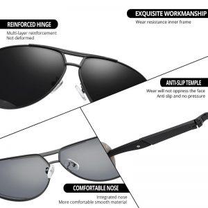 Pro Acme Classic Men Polarized Sunglasses Polaroid DrivingPilotSunglasses Women Eyewear Sun Glasses UV400 High Quality CC0444