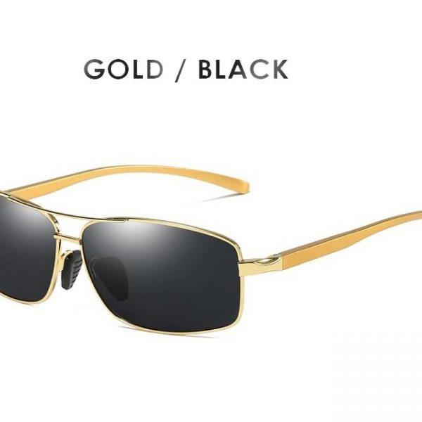 AORON Classic Retro Mens Polarized Sunglasses Men Rectangle Sun Glasses Aluminum Frame Sunglasses Men UV400