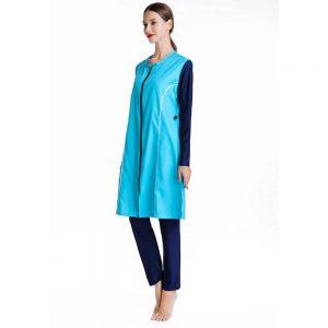 Southeast Asia Swimwear Loose Plus Size Conservative Swimwear Three-piece Muslim Burkini Women Chiffon Floral Cover Ups
