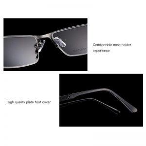 Business Men's Optical Glasses Frames ,Semi Frame Metal Hinge Prescription Glasses for Myopia & Prescription Eyeglass HF9933