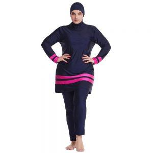 PEIFU 2020 Muslim Swimwear Islamic Full Cover Modesty Plus Size Summer Beach Swim Wear Arab Women Beachwear Burkini Swimsuit