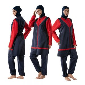 Modesty Muslim Women Hijab Swimwear Sports Burkini Beachwear Suit Swimming Conservative Swimsuit Full Cover Islamic Costumes New