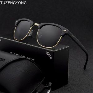 TUZENGYONG Classic Polarized Sunglasses Men Women Brand Designer High Quality Sun Glasses Female Male Fashion Mirror Sunglass