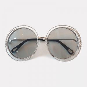2019 Mirror Sunglasses Metal Frame Oversized Vintage Round Designer Big Size Women Sunglasses
