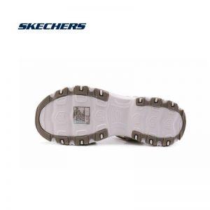 Skechers Sandals Women Shoes D'lite Chunky Sandals Ladies Med Heel Wedges Walk Shoes Summer Beach Shoes Fashion 31657-TPE