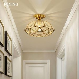 Luxury Creative Gold Ceiling Lamp LED Modern Pendant Lighting For Bedroom Kids Room Hallway Entrance Aisle Home Indoor Lights