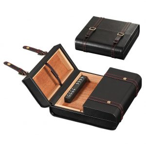 GALINER Humidor Box Cigar Leather Portable Briefcase Style Cigar Box  Fit 10-15 COHIBA Cigars Accessories