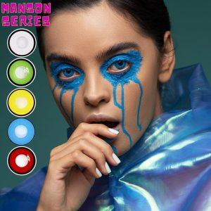 2pcs/1pair Manson Series Cosplay Colored Contact Lenses Halloween Cosplay Contact Lenses Eye Color Crazy Lenses UYAAI