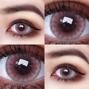 Pink Style 12 Color Beauty Pupil Contact Lenses Cosmetic Contact Lens Eye Color Degree option 2pcs/pair prescription