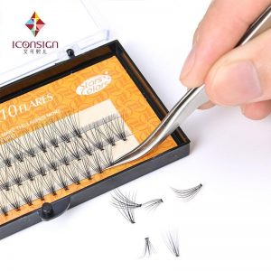High Quality Faux Silk Lashes 6mm-14mm 10D Mink Fake False Eyelashes High Quality Makeup Eyelash Extension