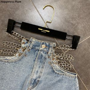 2020 Summer Side Chain Decoration Sexy High Waist Denim Shorts Fashion Womens Jeans Shorts Ladies Clothes Short Mujer