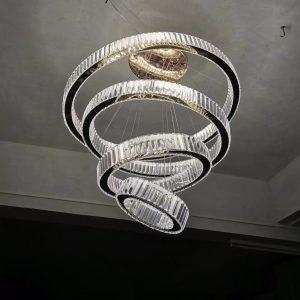 2020 Luxury Modern Chandelier Lighting Large Stair Light LED Crystal Lamp Home Decoration Lighting Fixtures