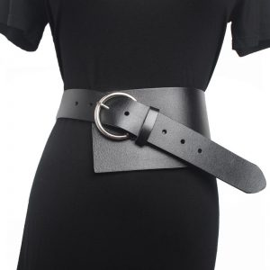 2020 Vintage Luxury Genuine Leather metal pin Buckle long Belts for Women Retro Clothes Accessories wide Dress Belt Accessory