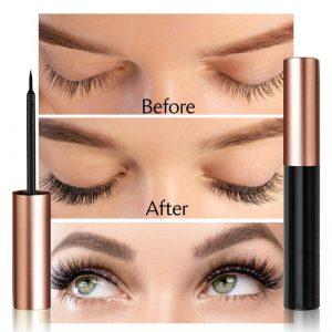 3pairs Magnetic False Eyelashes Magnet Eye Lashes Natural Waterproof Long Lasting Liquid Eyeliner Fake Mink Magnetic Lashes Kit