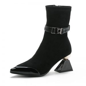 MORAZORA 2020 new arrival genuine leather shoes women ankle boots unique high heels boots autumn party dress shoes woman