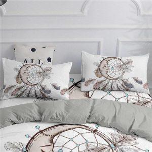 ZEIMON Bohemian Series 3D Dream Catcher Moon Bedding Set Home Decor Microfiber Bedspread Pillowcase Queen King Size Bed Sets