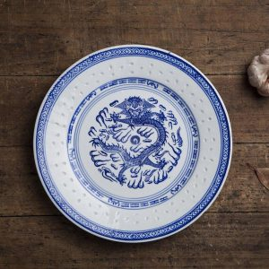 6-10 inch Jingdezhen Retro Blue and White Porcelain Dragon Dinner Plates Ceramics Dish Steak Plate Food Holder Kitchen Tableware
