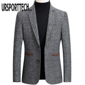 2020 New Spring Autumn Mens Plaid Blazer Fashion Business Casual Men'S Slim Fit Suit Jacket Large Size Casual Mens Blazer Jacket