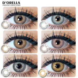 D'ORELLA 1 Pair(2pcs)  2021 New Arrival BARBIE series Color Soft Contact Lenses for Eyes Cosmetic Lenses Eye Color Beauty Pupil