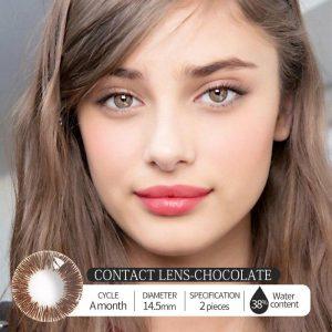 Hazel Style 12 Color Beauty Pupil Contact Lenses Cosmetic Contact Lens Eye Color Degree option 2pcs/pair prescription