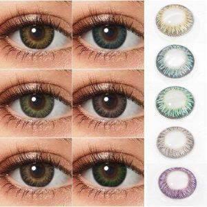 Lenses Eye Colored Lens 1Pair Lenses For Eyes Blue Contact Lenses Yearly Colored Contact Lenses For Eyes 3 Tone Contacts