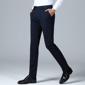 Fashion Big Size Men Pants High Quality Cotton Man Pants Straight Breathable Classic Business VogueMale Nice Spring Trousers