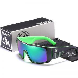 Dragon Windproof Shield Frame Reflective Coating Sunglasses Men Sport Goggle Eyewear Women Over sized UV400 mirror With Case