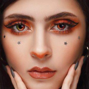 2pcs/pair Colored Contact Lenses Eye Unicorn Series Contact Lenses Color Cosmetic Contact Lens for Eyes lentes de contacto