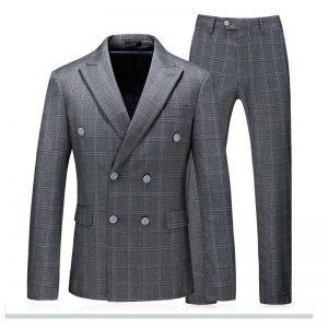 Latest Coat Pants Designs Navy Blue Men Suit Wedding Formal Groom Tuxedos Slim Fit Mens Blazer Jacket with Pants Suit 3 P